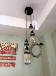 on sale jar chandelier swag light canopy sand cord