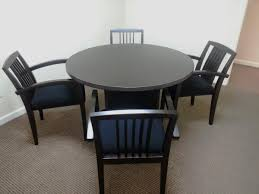 used round office table round conference table office furniture warehouse black chairs