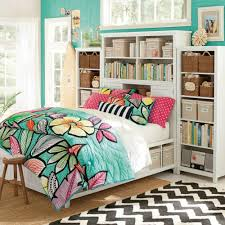 bedroom white bed storage with headboard bookshelves and
