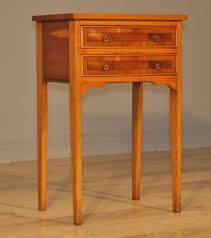 Yew Side Table Attractive Vintage Small Yew Wood Side Table With Drawers Bedside