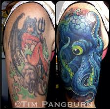 tattoo nightmares peacock cover up by the incredibly talented tim pangburn cover up tattoos inked