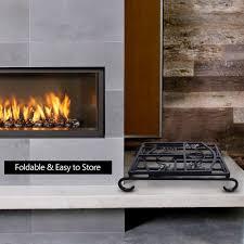 amagabeli fireplace log holder and carrier birch logs bin fire