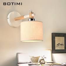 Wooden Wall Sconce Aliexpress Com Buy Botimi Nordic E27 Wall Lamp Applique Murale