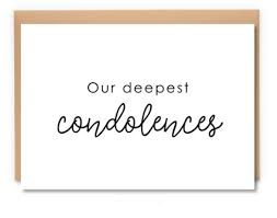 condolences greeting card our deepest condolences greeting card sympathy boxt