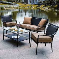 grey wicker patio loveseat sofa by living source target world source