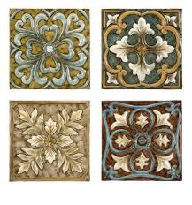 Kitchen Backsplash Metal Medallions by Decorative Metal Accent Tile Sets Imax Worldwide Casa Medallion