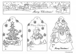 coloring pictures of christmas presents free printable holiday bookmarks to color