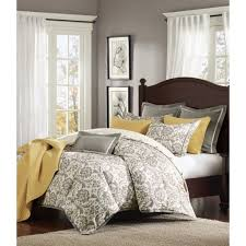 Modern Bedding Sets Rhoades Grey Damask Comforter Set U2013 Sky Iris