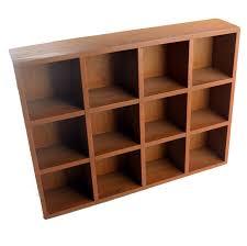 basket organizer storage box 12 grids wall cabinet wood desktop