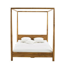 Teak Bed Solid Teak 160 X 200 King Size Four Poster Bed Amsterdam Maisons
