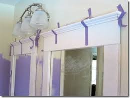 framing bathroom mirror with molding how to frame a mirror with mdf crown molding idea for windows