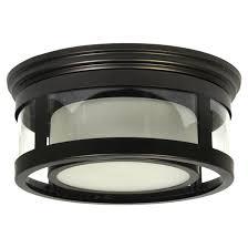 Outdoor Flush Mount Lighting Fixtures 1 Light Outdoor Flush Mount Light Black Rona