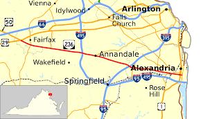 Map Of Eastern Virginia by Virginia State Route 236 Wikipedia