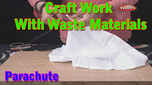 parachute craft work with waste materials learn craft for kids