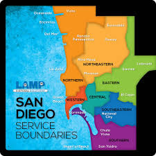 Map Of San Diego County Service Area U2013 San Diego County Lamp Disposal Solutions