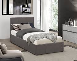 Ottoman Bed Black Birlea Berlin Ottoman Bed Fabric Grey Single Co Uk