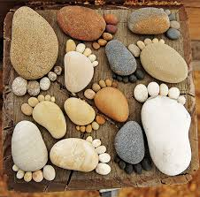 Pebbles And Rocks Garden More Easy Garden Projects With Stones Grandkids Footprints And