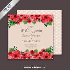 floral wedding card template free vectors ui download