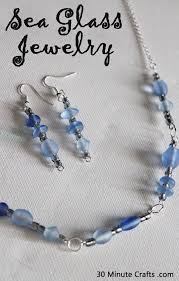 How To Make Jewelry From Sea Glass - necklace and earrings for under 10