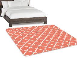 coral rug living room rug bedroom rug area rug 5x8