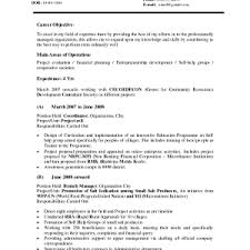 sample of a career objective resume goals examples sample s in cv