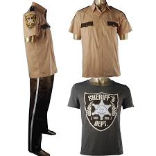 the walking dead rick grimes cosplay costume sheriff uniform