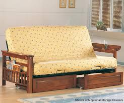 oak futon sofa bed coaster futon sofa in weathered oak finish 4075 coaster fine