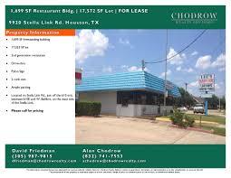 restaurant for sale in houston restaurants for sale or lease chodrow realty advisors