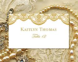 Design Your Own Place Cards Place Card Template Etsy