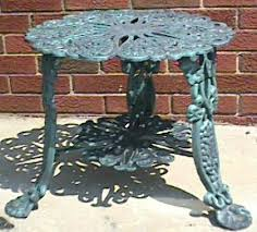 White Cast Iron Patio Furniture Piece Grape Design Patio Furniture Set