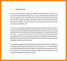 7 health and safety management plan formatting letter