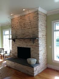 refacing brick fireplace stone veneer kits pictures refinishing