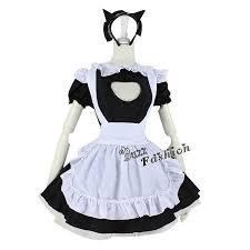 Anime Halloween Costumes Maid Apron Dress Black Mixed White Anime Cosplay