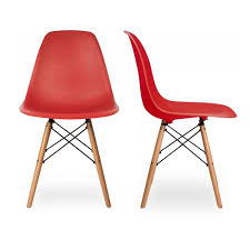 eames style side chair with natural wood legs eiffel dining room