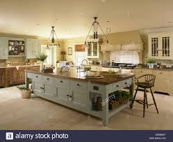 Large Kitchen With Island A Large Kitchen Island Unit Stock Photo Royalty Free Image