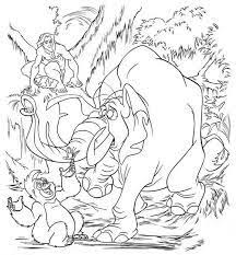 tarzan mom gorilla coloring pages kids printable