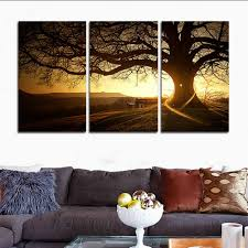 image of home decoration amazon com h cozy 3 zhang printed canvas modern painting tree