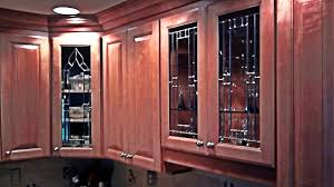 kitchen cabinet door stained glass inserts custom leaded beveled glass kitchen cabinet panels mclean