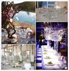 d coration mariage chetre mariage hiver decoration table centre de table miroir vase cristal