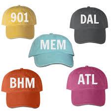 city initials cap city abbreviation hat area code hat