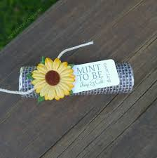 sunflower wedding favors sunflower wedding favors with personalized tag set of 24