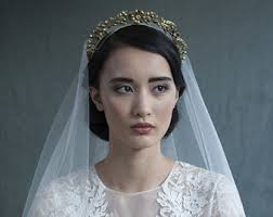 bridal crowns bridal crown etsy