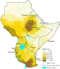 East Africa Map Safari Ecology East African Climate