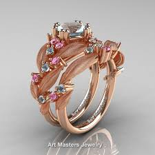 pink sapphire rings images Nature classic 14k rose gold 1 0 ct aquamarine light pink sapphire jpg
