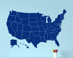 Blank Map Of Usa States by Wall Decal United States Map Wall Decal