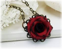 red rose necklace images Vintage style rose necklace gothic rose necklace jpg