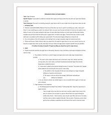 speech outline template