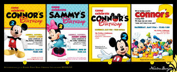 baby mickey invitations nealon design mickey mouse clubhouse birthday invitations