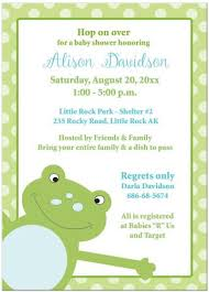 frog baby shower adorable animals baby shower invitations