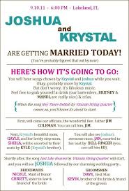 Wedding Ceremony Programs Diy Best 25 Funny Wedding Programs Ideas On Pinterest Wedding Games